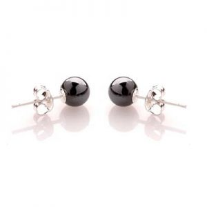 PIC3-Hematite Boucle oreille PIC Pierre by FitYo
